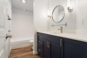 All new bathrooms with vinyl floors.