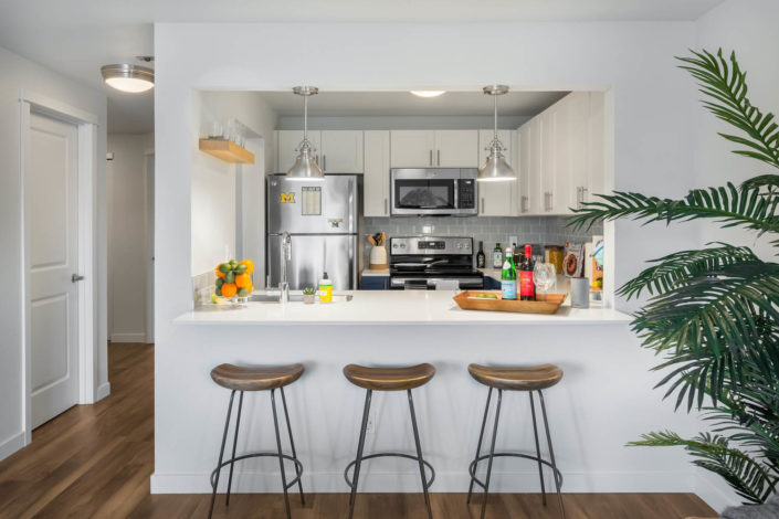 All new kitchens with stainless steel appliances and microwave
