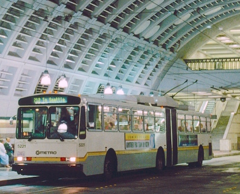 bus underground in seattle