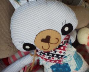 handmade stuffed rabbit found in Queen Anne, Seattle