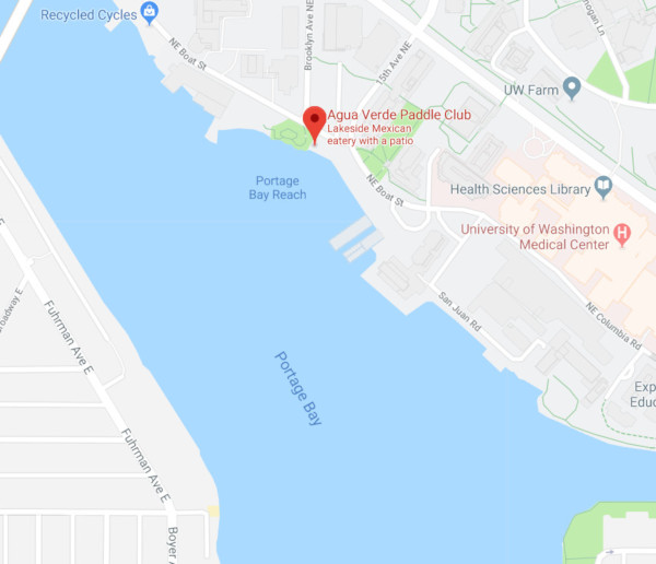 Agua Verde Paddle Club on Google Maps North of Portage Bay, Seattle