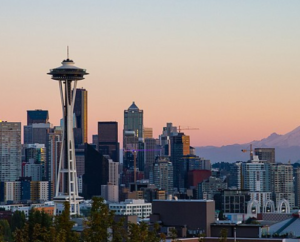 seattle skyline featuring space needle